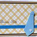 23. caramel, jaune et turquoise - cravate en origami