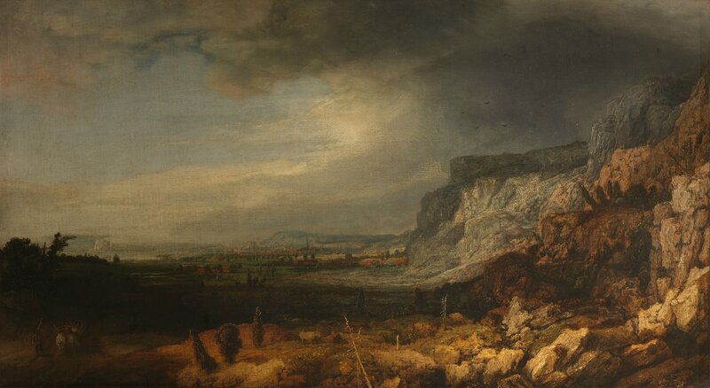 Hercules Segers, Mountain Valley, Oil on Canvas, Uffizi, Florence