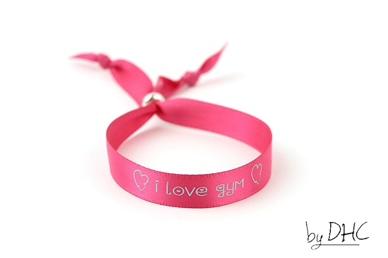bracelet gym satin rose
