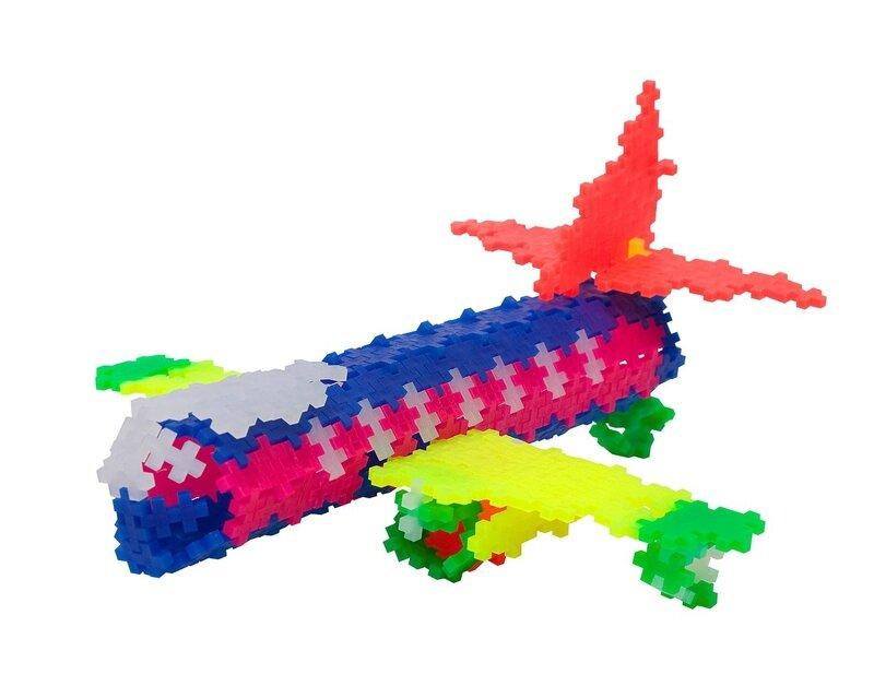 plus plus avion neon 3d