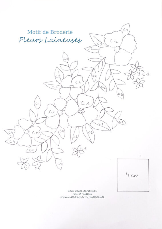 motif broderie laineuse