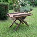 Un dimanche sous la pluie : table plateau pour le jardin