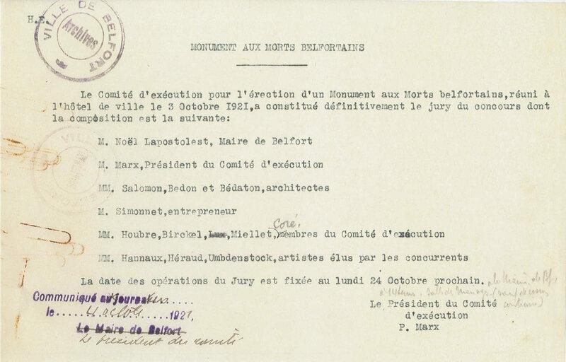 1921 10 04 Composition Jury définitif 0