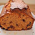 Cake châtaigne et pépites,sans gluten sans lactose