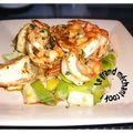 Crevettes papillons sautées au balisic et à la sauce de soja sucrée