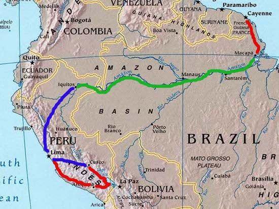 amazone fleuve carte