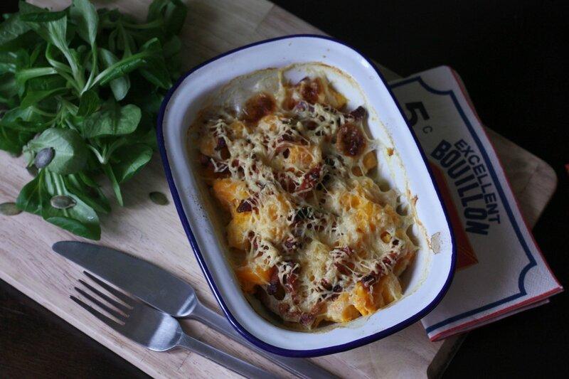gratin potimarron lardons blog chez requia cuisine et confidences