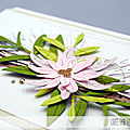 4enscrap ... invitation à créer ... dites le avec des fleurs !