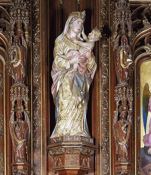 Basilique ND de la Guerche, statue de Notre Dame