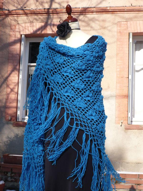 Grand châle andalou, crochet 3.5