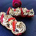 Eclairs pistaches fraises