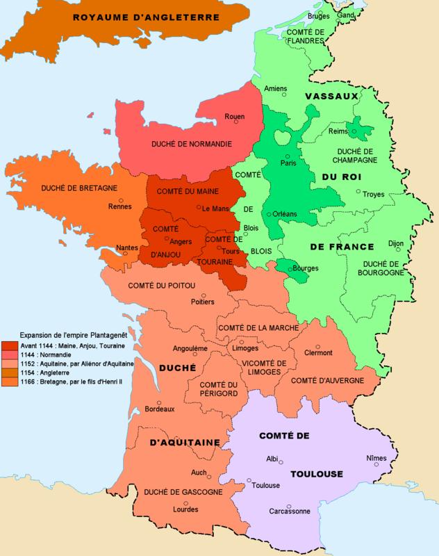 France_1154 l'expansion de l'empire Plantagenêt -