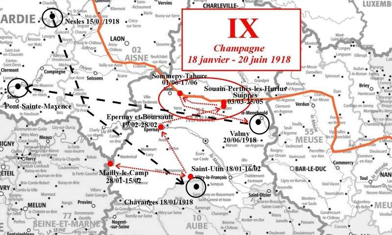 Carto Journal de Marche IX Front de Champagne