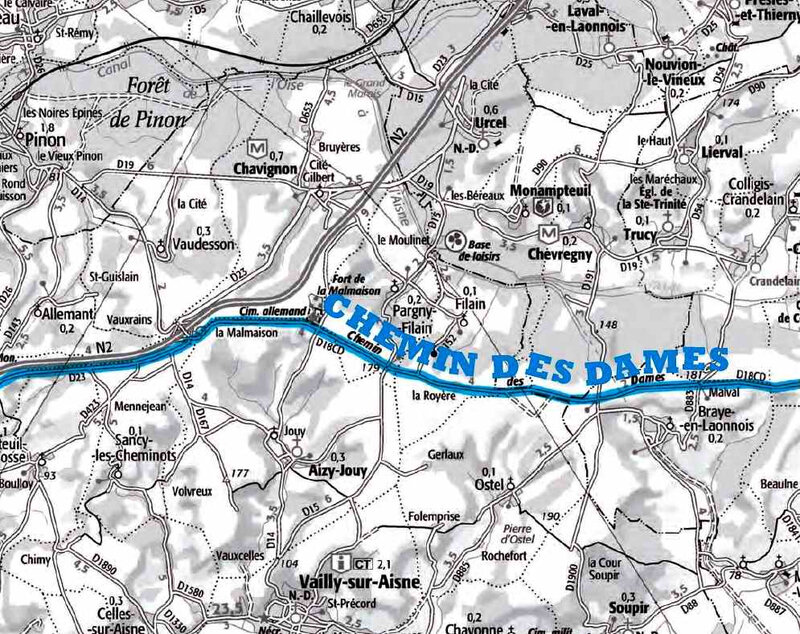 Chemin des dames map1