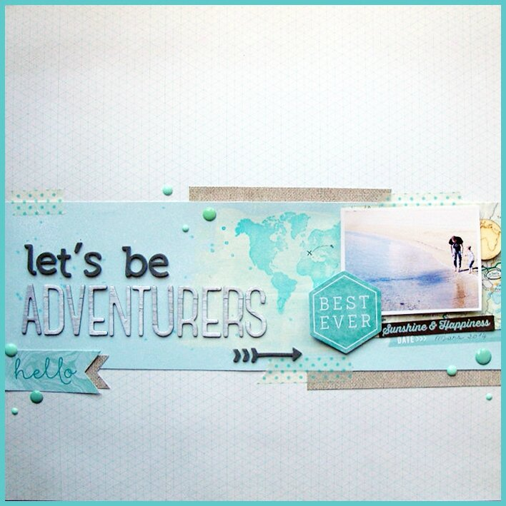 "Page / Layout ""Let's Be Adventurers"""