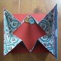 Carte origami ouverte