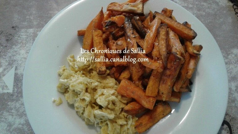 frite patate douce
