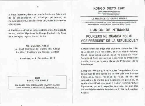 POURQUOI NE MUANDA NSEMI VICE-PRESIDENT DE LA REPUBLIQUE a
