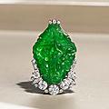 A jadeite and diamond brooch, circa 1930