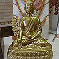 bouddha de médecine en bronze véritable