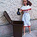 Barbie écolo - Poubelle - Déchets ordures - Nouveau modèle Barbie réduction à la source des déchets - Réduction des déchets