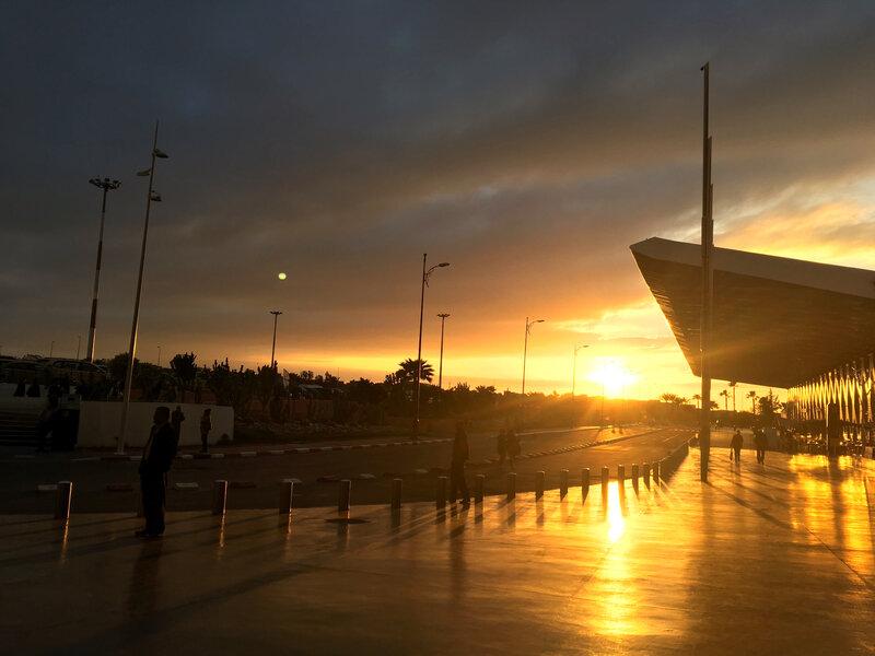 Premier coucher de soleil marocain