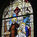 13_église St Sixte_Chapelle Rainsouin_détail vitrail_la sainte famille