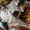 Carre de porc a la puree de pommes et celeri
