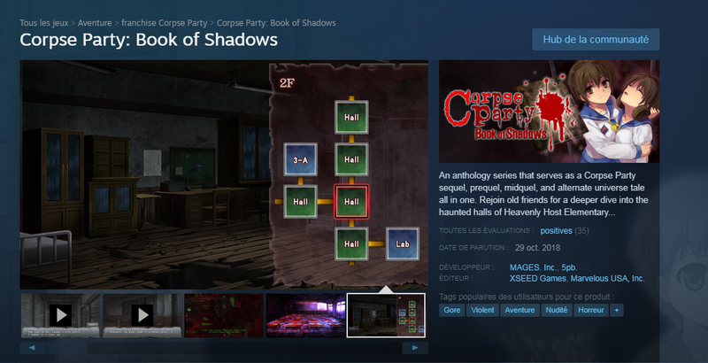 Corpse Party Book of Shadows Steam