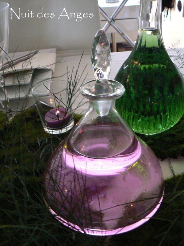 Nuit des anges décoratrice de mariage décoration de table rose et vert 019