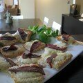 Petits toasts magrets - fromage