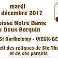 YO-accueil des reliques de Ste Thérèse