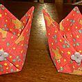 bourse en origami