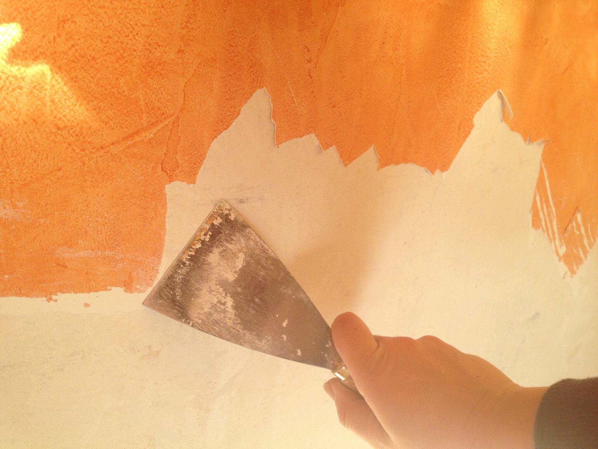 D coller et enlever de l 39 enduit cir la maison de lilly r novation de notre maison meuli re - Cire pour enduit mural ...