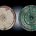 Two large bronze mirrors, Tang dynasty (618-907)