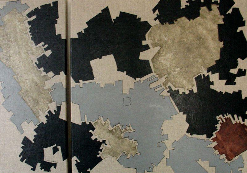 toiles, diptyque 20x50-50x50 cm