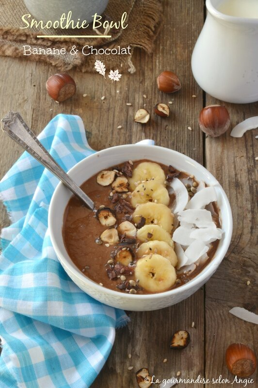 smoothie bowl chocolat - banane 1