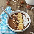 Smoothie bowl {chocolat & banane} #vegan & sans gluten