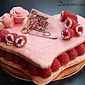 Macaron plein d'amour, de vanille et de framboises, pour culinoversions