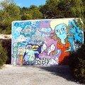 Il reste de vieux grafs à Ibiza, signes d'une époque révolue