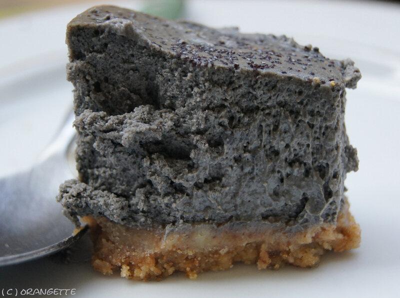 Cheesecake au sésame noir