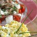 Poulet rôti en salade