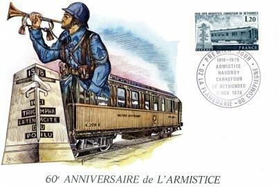 Document philatélique 60ème anniversaire Armistice LA Flamengrie 1978 R