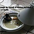 Petite soupe de fenouil et moules parfumée à l'origan et basilic