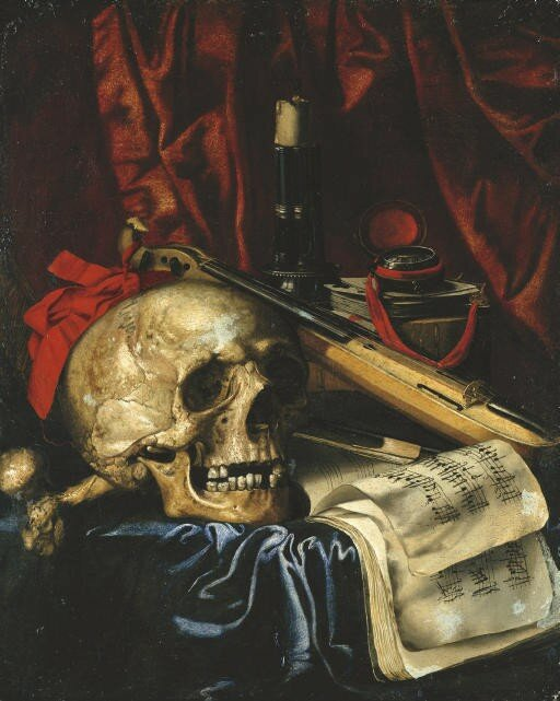 Simon Renard de Saint-André Paris (1613-1677), A vanitas still life, oil on canvas, 54.5 x 45 cm