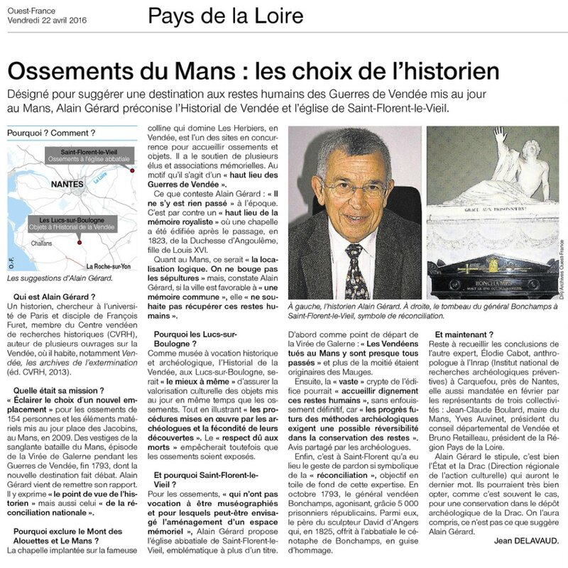 Ouest-France 22 avril 2016
