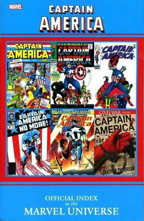 captain america official index to the marvel universe TP