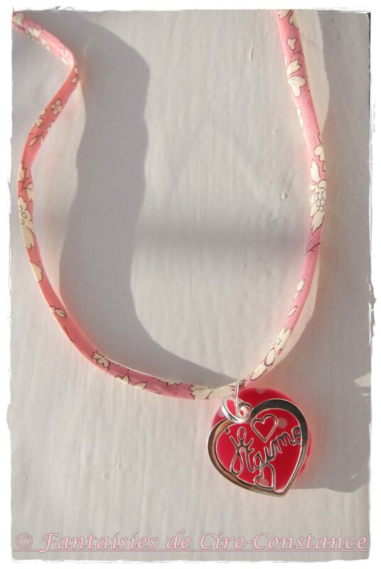 bijou St Valentin collier rose