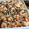 Riz aux crevettes et salicornes