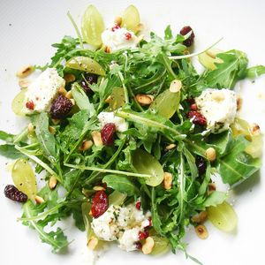 salade d'automne roquette chèvre